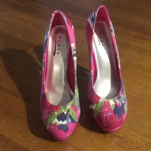 Shoes - Pink High Heels Size 8🌸